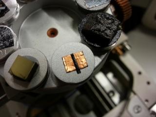 SEM sample containing aluminum, copper, and carbon